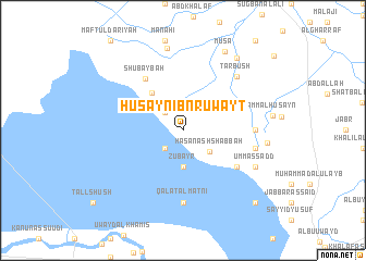 map of Ḩusayn Ibn Ruwayţ
