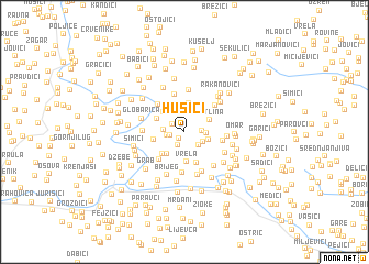 map of Husići