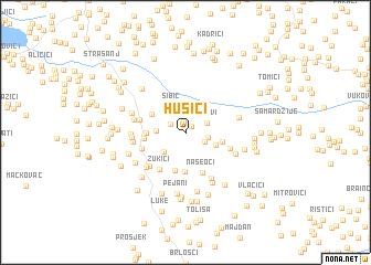 map of Husići