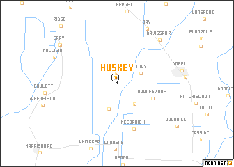 map of Huskey