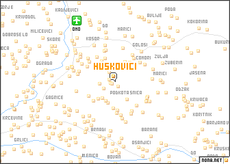 map of Huskovići