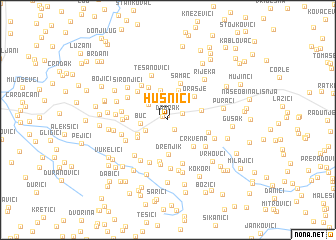 map of Husnići