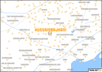 map of Hussain Bajhāni
