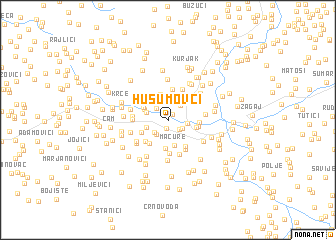 map of Husumovci