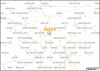 map of Husum