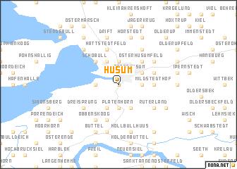map of Husum