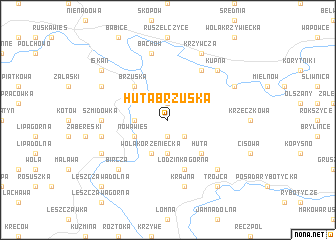 map of Huta Brzuska