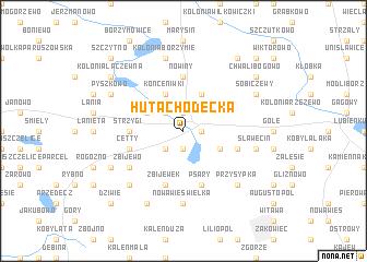 map of Huta Chodecka