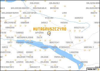 map of Huta Gruszczyno