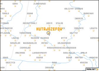 map of Huta Józefów