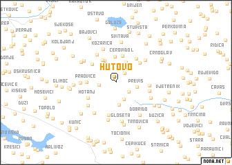 map of Hutovo