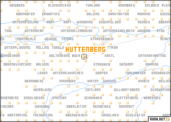 map of Hüttenberg