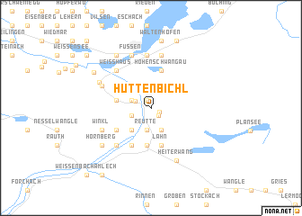 map of Hüttenbichl