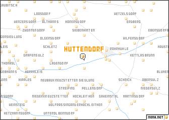 map of Hüttendorf