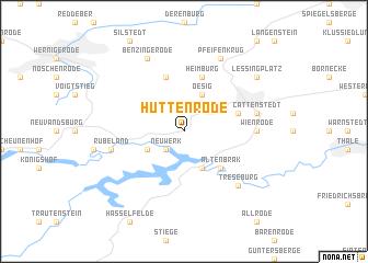 map of Hüttenrode