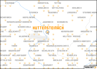 map of Hüttensteinach