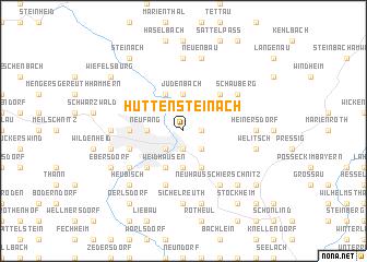 map of Hüttensteinach