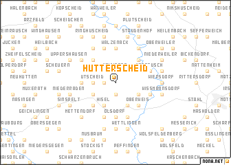 map of Hütterscheid