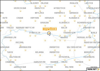 map of Huwniki