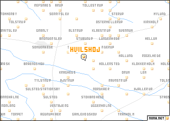 map of Hvilshøj