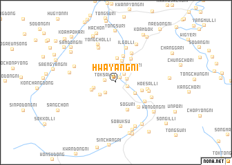 map of Hwayang-ni