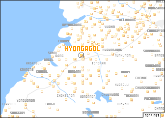map of Hyŏn\