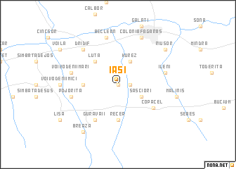 map of Iaşi