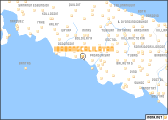 map of Ibabang Calilayan