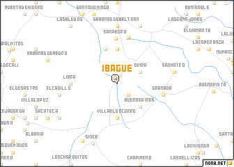 Ibagu Colombia map nonanet