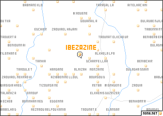 map of Ibezazine