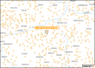 map of Ibrahim Kadići