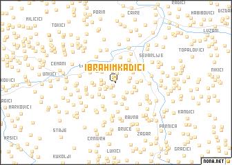 map of Ibrahim Kadići
