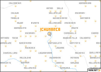 map of Ichumarca