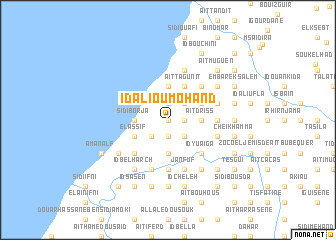 map of Id Ali Ou Mohand