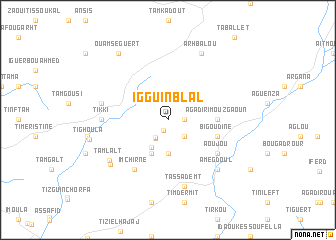 map of Iggui n'Blal