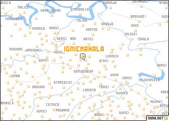 map of Ignić Mahala