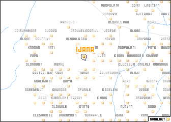map of Ijana