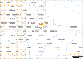 map of Ije