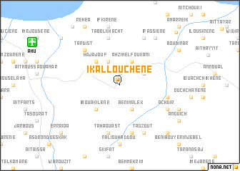map of Ikalloûchene