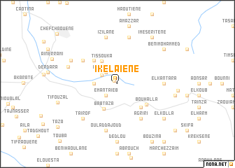 map of Ikelaïene