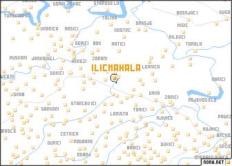 map of Ilić Mahala