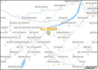 map of Illingen