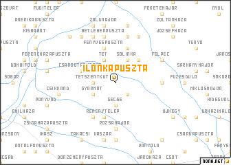 map of Ilonkapuszta