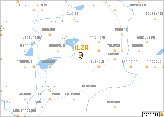 map of Ilza