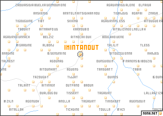 map of Imi n'Tanout