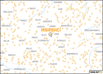 map of Imširovići