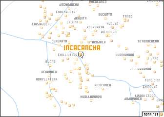 map of Incacancha
