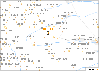 map of İncilli