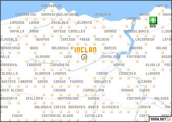 map of Inclán