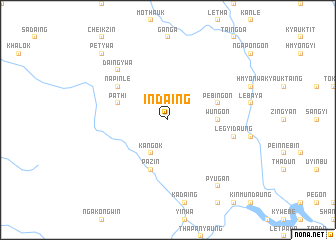 map of Indaing